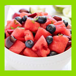 fruit salad bowl food