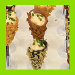 canapes catering in cones