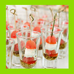 canapes catering in cups
